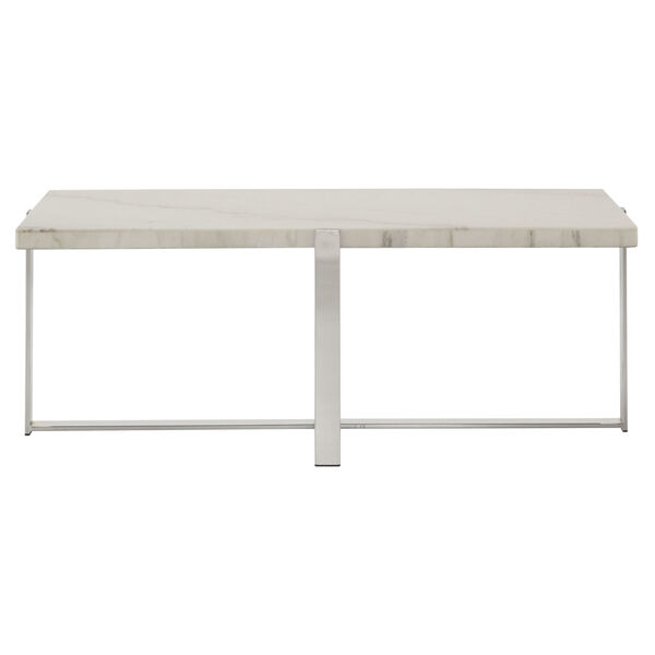 Diana Chrome Marble Top Framed Cocktail Table, image 2